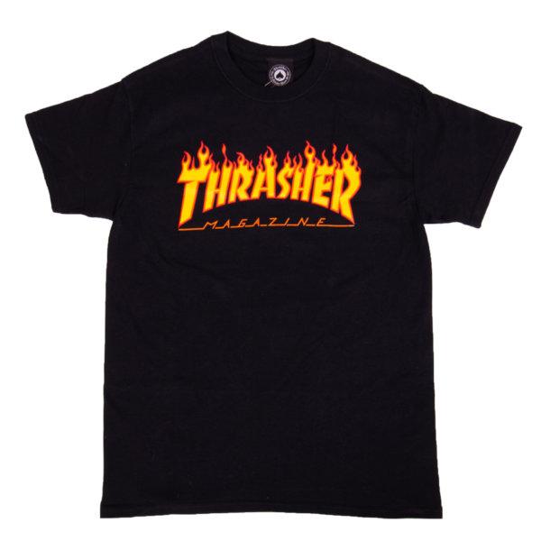 T-shirt Thrasher Flame Logo black