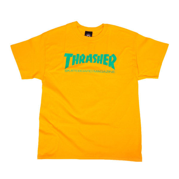 T-shirt Thrasher Skate Mag Gold